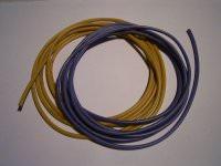 2,5mm² hochflexibles Kabelset gelb+blau