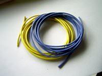 1,0mm² hochflexibles Kabelset gelb+blau